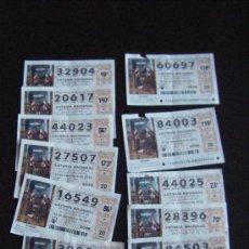 Lotería Nacional: LOTE 11 DÉCIMOS DE LOTERIA NACIONAL SORTEO 22 DICIEMBRE 2012. NUMEROS VARIOS.. Lote 35674456
