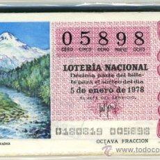 Lotería Nacional: LOTERÍA NACIONAL - 1978. Lote 35789130