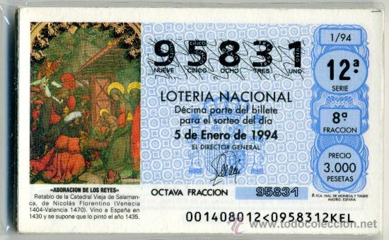 LOTERÍA NACIONAL - 1994 (Coleccionismo - Lotería Nacional)
