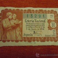Lotería Nacional: LOTERÍA NACIONAL - SORTEO 5 ENERO 1956 - . Lote 35940049