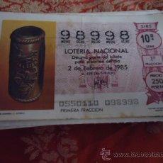 Lotería Nacional: 1985 LOTERIA NACIONAL CUPONES DECIMO , PIDA SUS FALTAS POR FECHAS. Lote 36145251