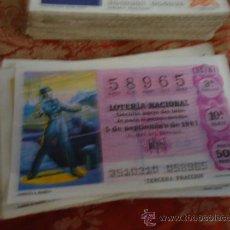 Lotería Nacional: 1981 LOTERIA NACIONAL CUPONES DECIMO , PIDA SUS FALTAS POR FECHAS . Lote 36145320