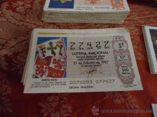 1987 LOTERIA NACIONAL CUPONES DECIMO , PIDA SUS FALTAS POR FECHAS (Coleccionismo - Lotería Nacional)