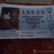 Lotería Nacional: 1988 LOTERIA NACIONAL CUPONES DECIMO , PIDA SUS FALTAS POR FECHAS . Lote 36145401