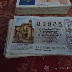 Lotería Nacional: 1989 LOTERIA NACIONAL CUPONES DECIMO , PIDA SUS FALTAS POR FECHAS . Lote 36145415