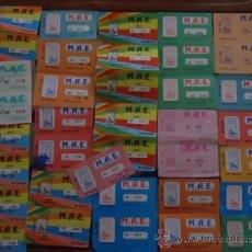 Lotería Nacional: LOTE 36 CUPONES DE MINUSVALIDOS ASOCIADOS DE ESPAÑA M.A.E 1987,1988,1989,SORTEOS PARALELOS A ONCE. Lote 36146062