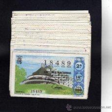 Lotería Nacional: LOTERIA NACIONAL - AÑO 1973 - COMPLETO - 40 DECIMOS . . Lote 152197317