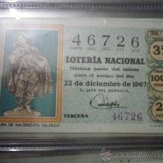 Lotería Nacional: DÉCIMO LOTERÍA NACIONAL SORTEO Nº 36-67 22 DICIEMBRE. Lote 36767517