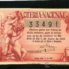 Lotería Nacional: LOTERIA NACIONAL, AÑO 1949 SORTEO 01 ( D - 0200 ). Lote 37165372