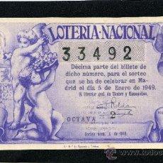 Lotería Nacional: LOTERIA NACIONAL, AÑO 1949 SORTEO 01 ( D - 0202 ). Lote 37165379