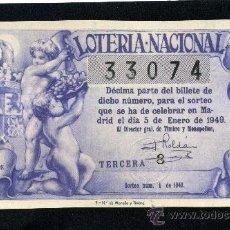 Lotería Nacional: LOTERIA NACIONAL, AÑO 1949 SORTEO 01 ( D - 0202 - 3 ). Lote 37165395