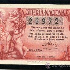 Lotería Nacional: LOTERIA NACIONAL, AÑO 1949 SORTEO 01 ( D - 0202 - 1 ). Lote 37165401