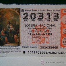 Lotería Nacional: LA SAGRADA FAMILIA-MARIANO SALVADOR MAELLA-CATEDRAL JAEN-19 JULIO 1997-LOTERIA NACIONAL-20313-58/97.. Lote 37169093
