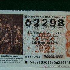 Lotería Nacional: ADORACION DE LOS MAGOS-CATEDRAL DE CIUDAD REAL-GIRALDO DE MERLO-5-1-1997-LOTERIA NACIONAL-62298-2/98. Lote 37169476