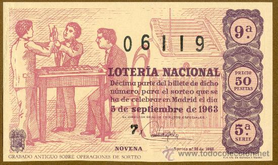 DECIMO LOTERIA NACIONAL - 1963 (Coleccionismo - Lotería Nacional)