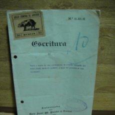 Lotería Nacional: ESCRITURA SATIRICA DE PARTICIPACION DE LOTERIA DE NAVIDAD - BADALONA 1948. Lote 37292968