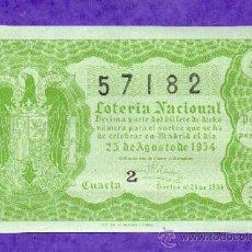 Loterie Nationale: LOTERIA NACIONAL SORTEO 24 DE 1954. Lote 37502966