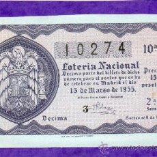 Loterie Nationale: LOTERIA NACIONAL SORTEO 8 DE 1955. Lote 37546333