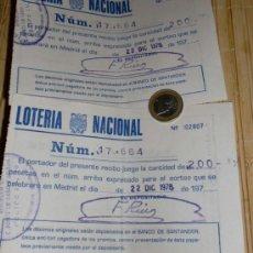 Lotería Nacional: 2 DECIMOS LOTERIA NACIONAL 1978. Lote 37567609