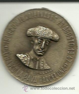 (PUB-80)MEDALLA RECUERDO A MANOLETE CON NUMERO DE LOTERIA DE NAVIDAD 1948 (32363) (Coleccionismo - Lotería Nacional)