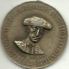 Lotería Nacional: (PUB-80)MEDALLA RECUERDO A MANOLETE CON NUMERO DE LOTERIA DE NAVIDAD 1948 (32363). Lote 37604188