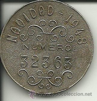 Lotería Nacional: (PUB-80)MEDALLA RECUERDO A MANOLETE CON NUMERO DE LOTERIA DE NAVIDAD 1948 (32363) - Foto 2 - 37604188