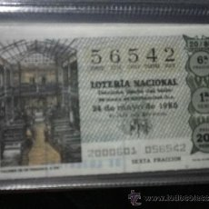 Lotería Nacional: DÉCIMO LOTERÍA NACIONAL SÁBADO AÑO 1980 SORTEO Nº 20. Lote 37644955