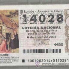 Lotería Nacional: LOTERÍA NACIONAL DE LOS SÁBADOS 2002 ( COLECCIÓN COMPLETA ). Lote 38271731