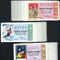 Lotería Nacional: COLECCIONES AÑOS 1967 A 1970 COMPLETAS. Lote 38320800