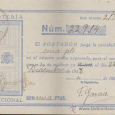 Lotería Nacional: PARTICIPACIÓN DE NAVIDAD DE 1938. COLEGIO SAN ANTONIO - SEVILLA.. Lote 38395049