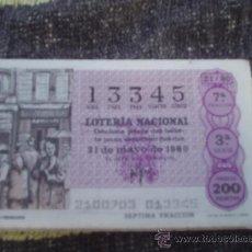 Lotería Nacional: LOTERÍA NACIONAL SORTEO 21/80 DEL 31/05/1980 TEMA: LOS NÚMEROS PREMIADOS. Lote 38737477