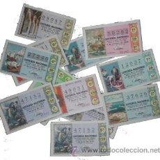 Lotería Nacional: LOTERIA NACIONAL 1970. AÑO COMPLETO. SABADOS.. Lote 134850930