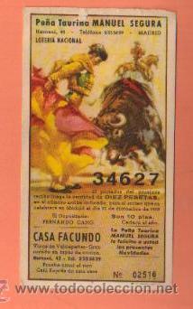PEQUEÑO CARTEL CON PARTICIPACION DE LOTERÍA NAVIDAD, 1960 SASTRERIA A. RUBIO (Coleccionismo - Lotería Nacional)
