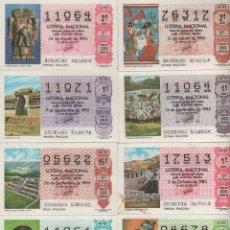 Lotería Nacional: LOTERÍA NACIONAL - AÑO 1985 - SORTEOS 33, 34, 35, 36, 38, 39, 40 Y 41. Lote 39394477