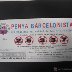 Lotería Nacional: LOTERIA DE NAVIDAD DE LA PEÑA BARCELONISTA SANT PERA DE RIBES DEL AÑO 1.994. Lote 40867670