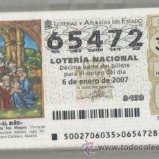 Lotería Nacional: LOTERÍA NACIONAL SÁBADOS, 2007. Lote 41482291