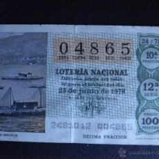 Lotería Nacional: DÉCIMO LOTERIA- SORTEO Nº 24 DE 1978 - 23 DE JUNIO DE 1978 - 12ª SERIE - 1978 -. Lote 41580303