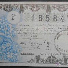 Lotería Nacional: (5003) DECIMO DE LOTERIA, SORTEO 6 DE 1942,CONSERVACION: . Lote 41708120