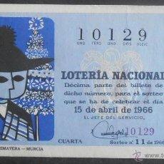 Lotería Nacional: (5251) DECIMO DE LOTERIA, SORTEO 11 DE 1966,CONSERVACION:. Lote 43301208