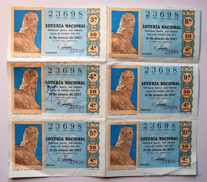 LOTERÍA NACIONAL 1967 (SORTEO 2) (Coleccionismo - Lotería Nacional)