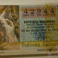 Lotería Nacional: 50 DECIMOS AÑO 1978. TEMA: LOS RECURSOS NATURALES. Lote 42762538