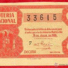 Lotería Nacional: LOTERIA NACIONAL SORTEO 20 DE1956. Lote 42808761