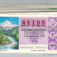 Lotería Nacional: 50 DÉCIMOS LOTERÍA NACIONAL 1978. LOS RECURSOS NATURALES. AÑO COMPLETO. Lote 42823837