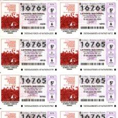Lotería Nacional: LOTE COLECCIÓN 57 HOJAS LOTERIA NACIONAL ( 570 DÉCIMOS) DE 1988 AL 2004 VER TODAS LAS FOTOGRAFIAS. Lote 43281274