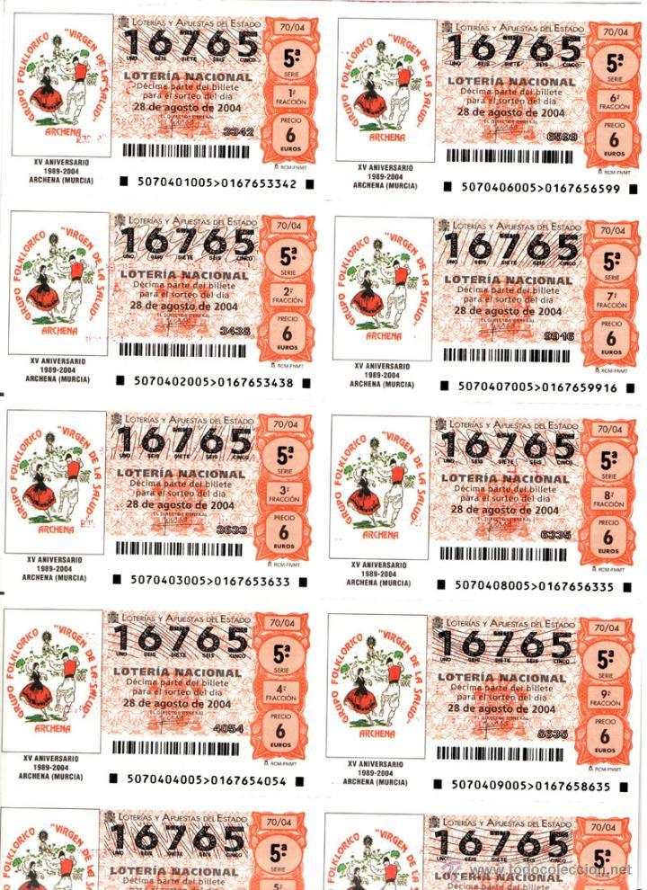 Lotería Nacional: Lote Colección 57 hojas loteria Nacional ( 570 décimos) de 1988 al 2004 ver todas las fotografias - Foto 2 - 43281274