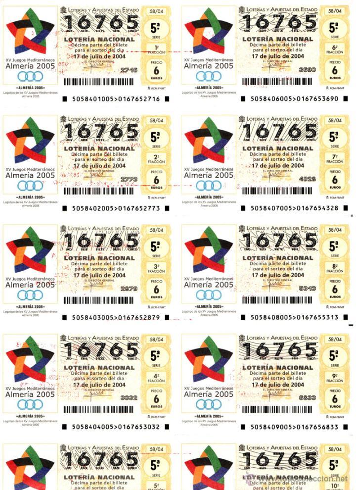 Lotería Nacional: Lote Colección 57 hojas loteria Nacional ( 570 décimos) de 1988 al 2004 ver todas las fotografias - Foto 6 - 43281274