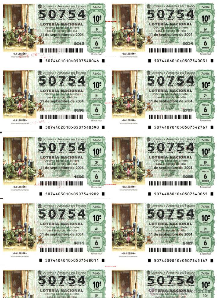 Lotería Nacional: Lote Colección 57 hojas loteria Nacional ( 570 décimos) de 1988 al 2004 ver todas las fotografias - Foto 20 - 43281274