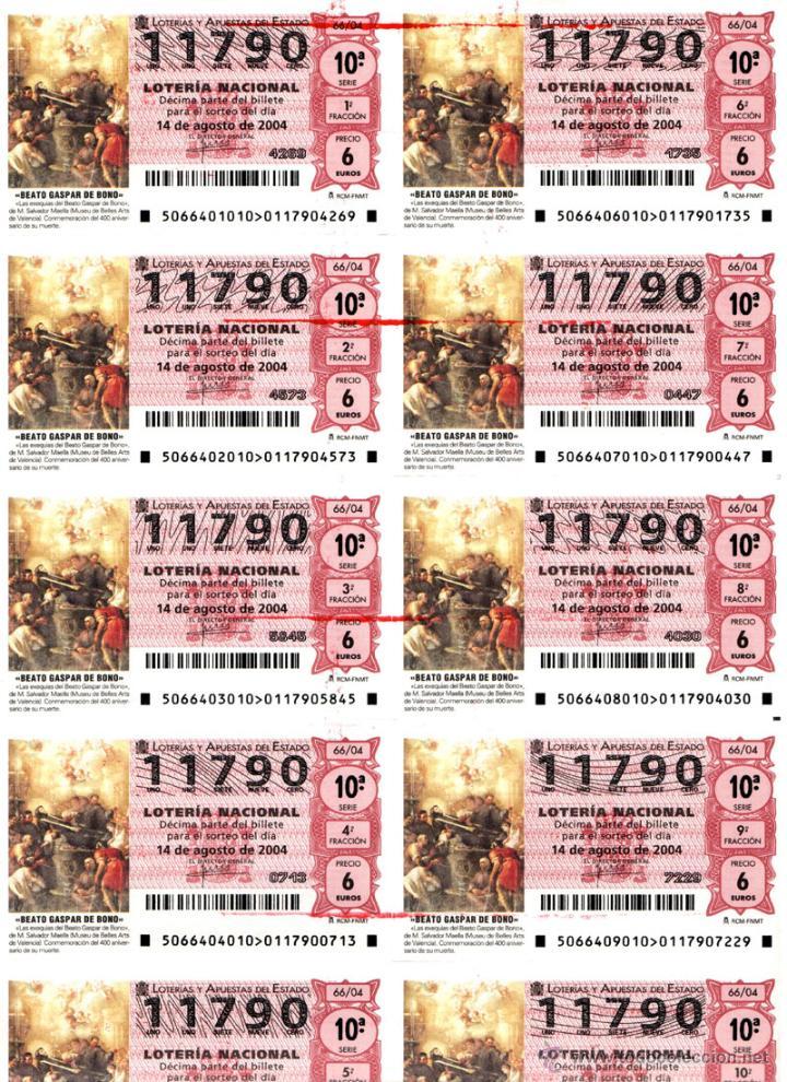 Lotería Nacional: Lote Colección 57 hojas loteria Nacional ( 570 décimos) de 1988 al 2004 ver todas las fotografias - Foto 21 - 43281274