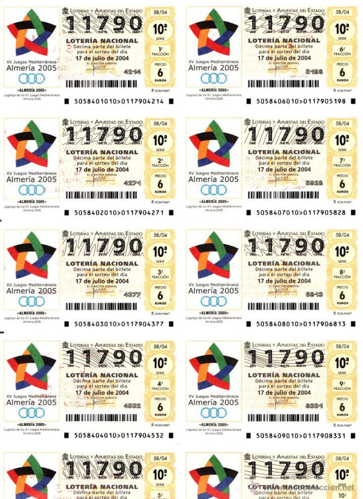 Lotería Nacional: Lote Colección 57 hojas loteria Nacional ( 570 décimos) de 1988 al 2004 ver todas las fotografias - Foto 23 - 43281274