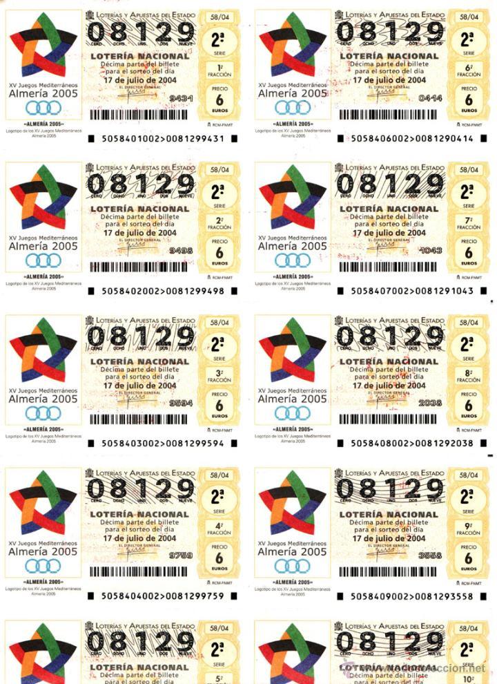 Lotería Nacional: Lote Colección 57 hojas loteria Nacional ( 570 décimos) de 1988 al 2004 ver todas las fotografias - Foto 32 - 43281274